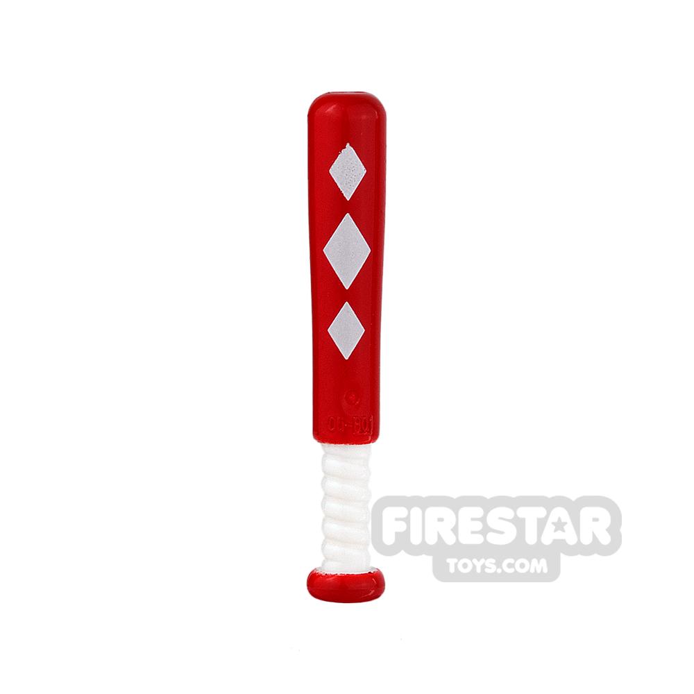 LEGO - Baseball Bat - Harley Quinn Red with Diamonds