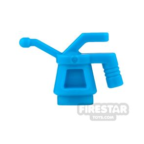 LEGO - Oil Can - Ribbed Handle - Dark Azure