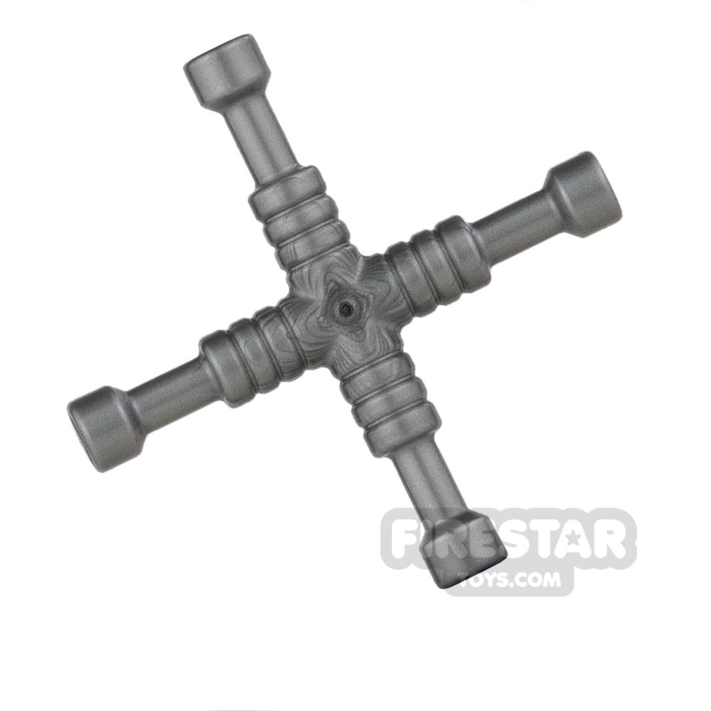 LEGO - 4-Way Lug Wrench - Flat Silver