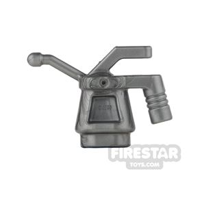 LEGO - Oil Can - Ribbed Handle - Flat Silver
