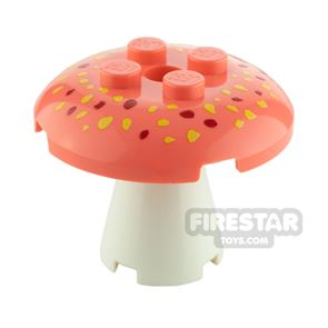 Custom Design Toadstool Large Coral and White