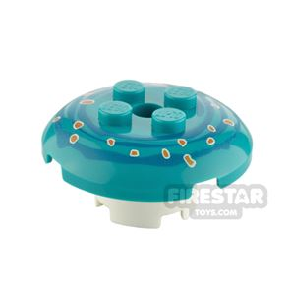 Custom Design Toadstool Small Dark Turquoise and White