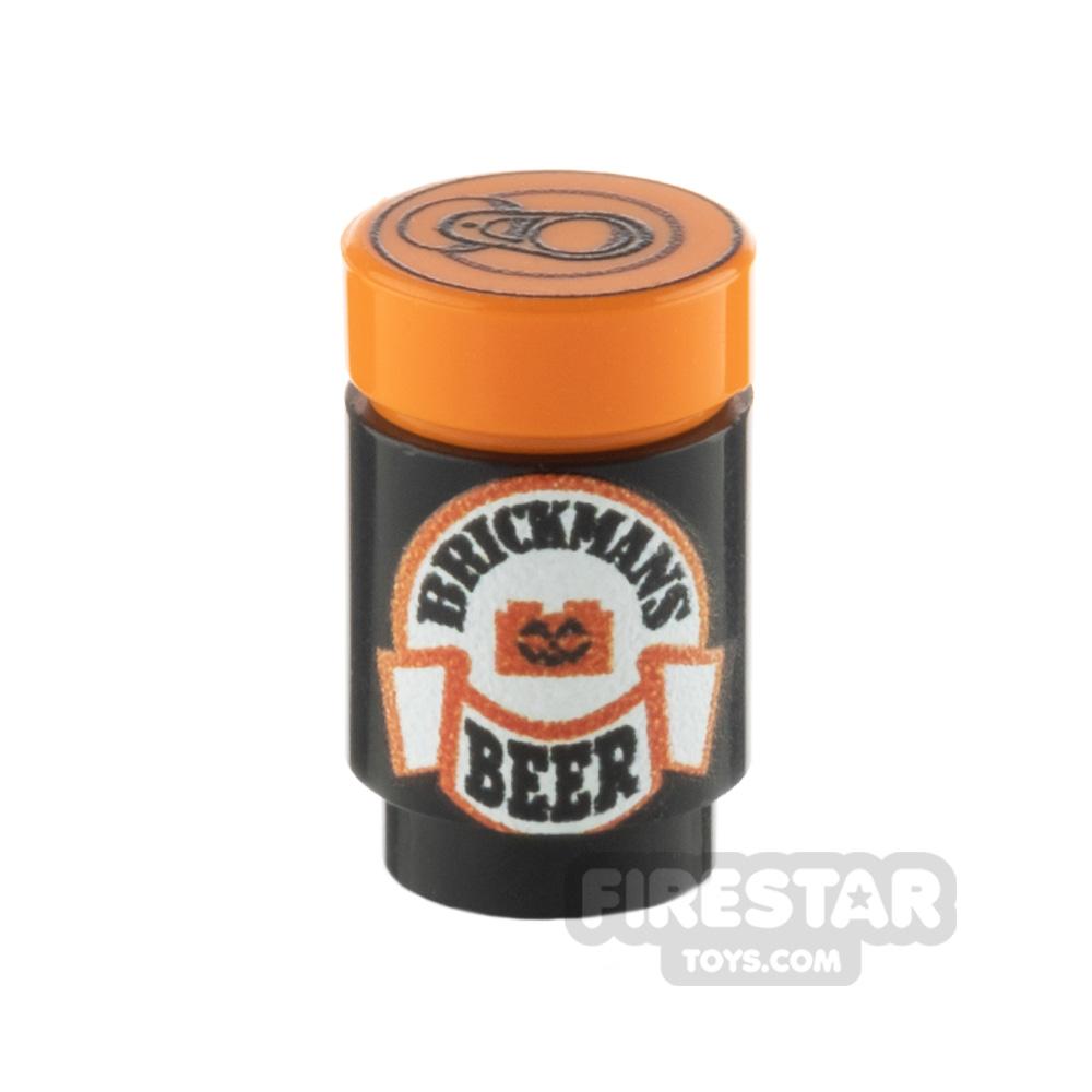 Custom Design Brickmans Pumpkin Beer Can