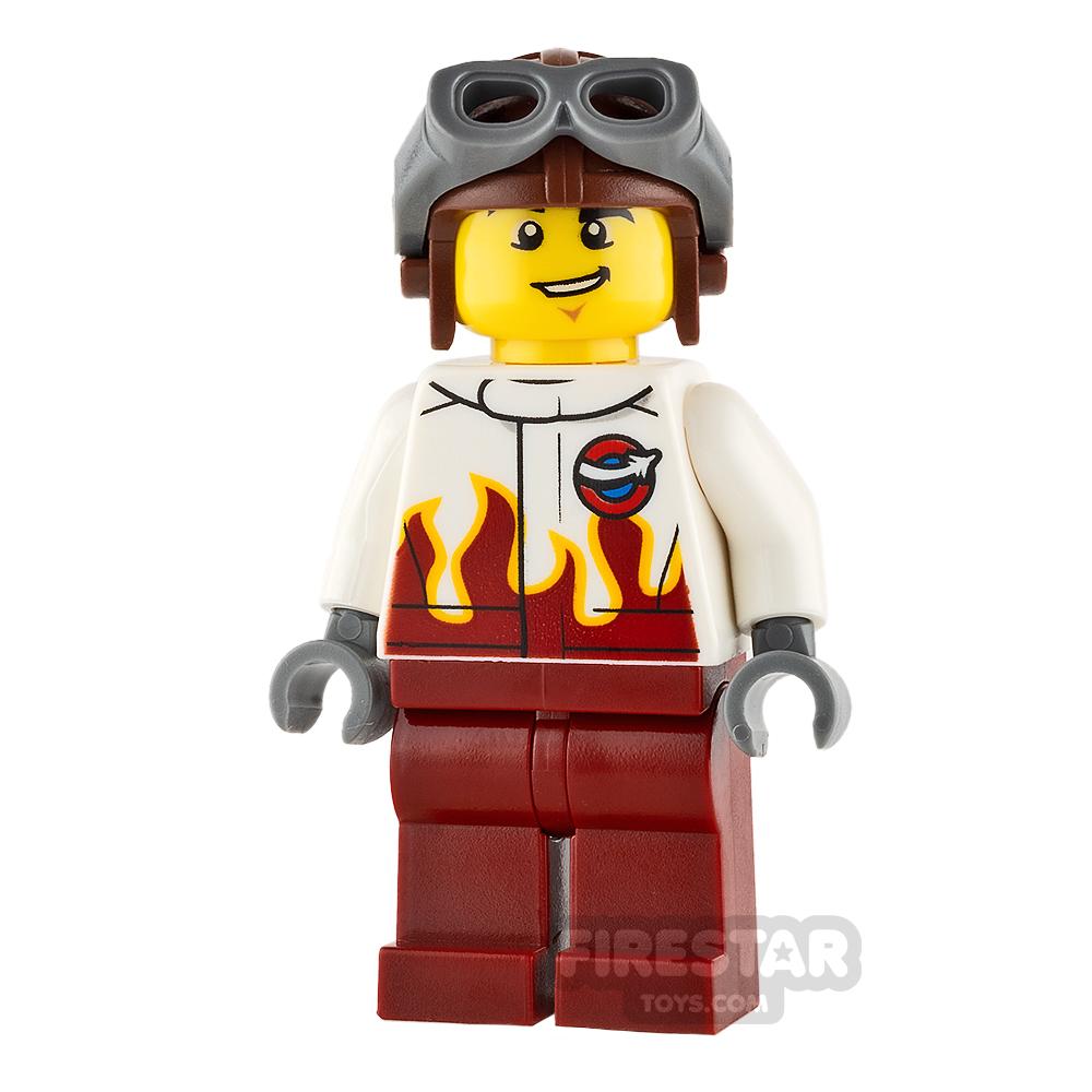 LEGO City Mini Figure - Airport - Stunt Pilot Male