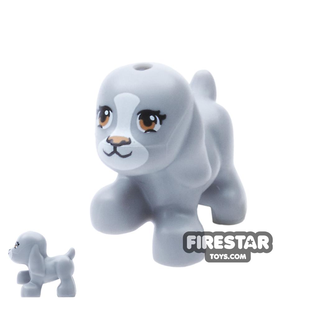LEGO Animals Mini Figure - Small Dog - Light Blueish Gray