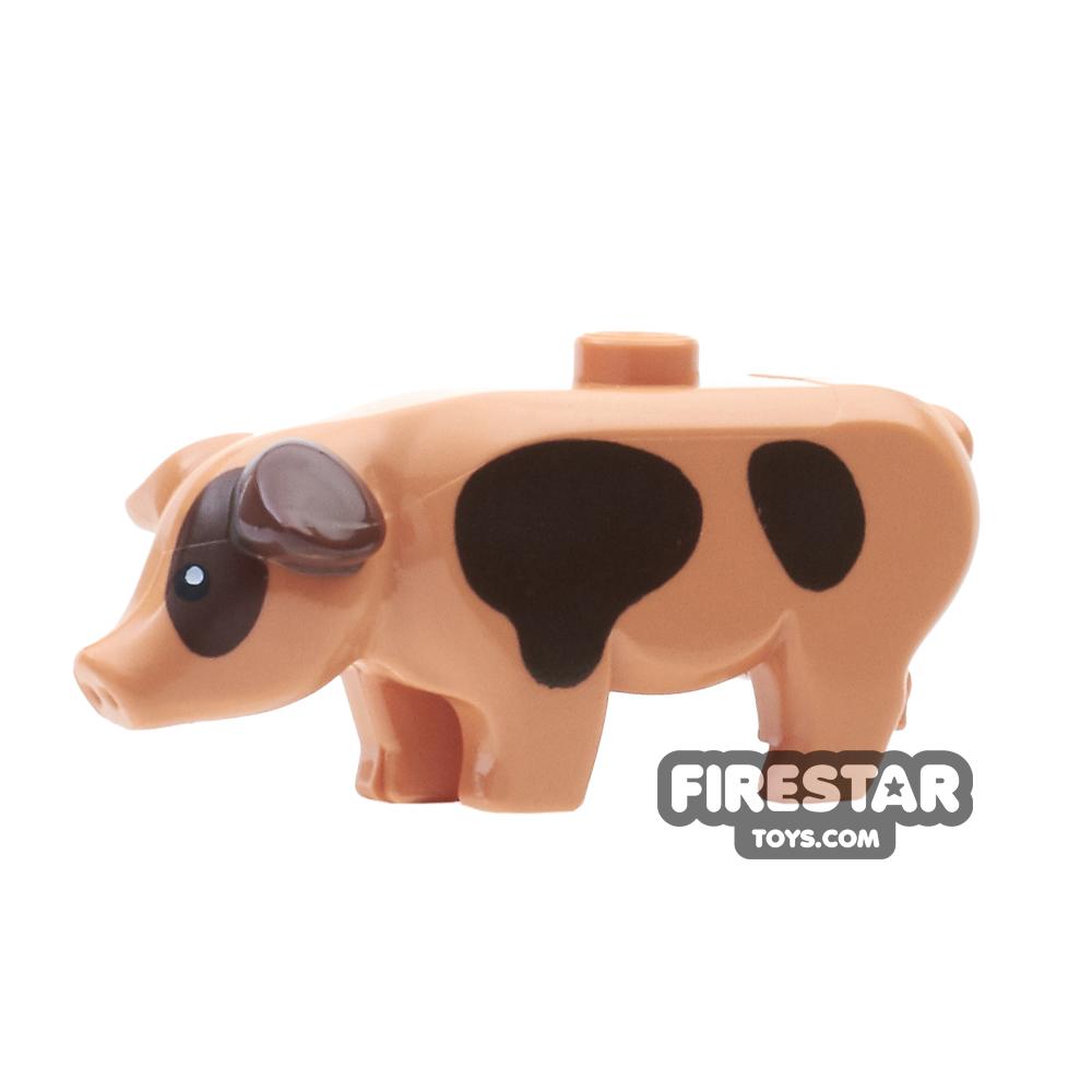 LEGO Animals Mini Figure - Pig - Brown Spots
