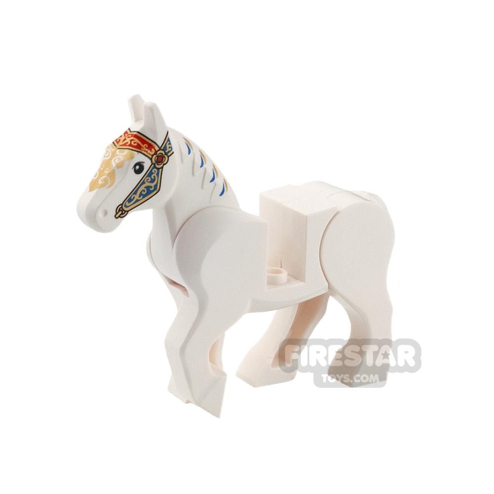 LEGO Animals Mini Figure - Horse - Moveable Back Legs - Ornate Bridle