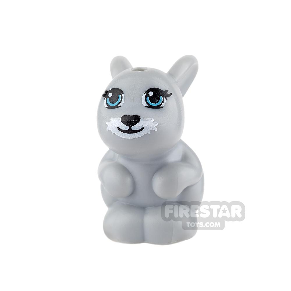 LEGO Animals Mini Figure - Rabbit - Light Blueish Gray