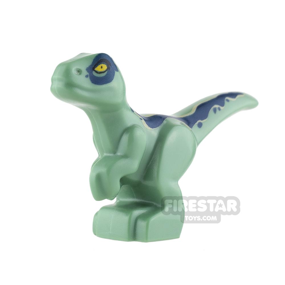 LEGO Animals Mini Figure - Baby Raptor Dinosaur - Sand Green