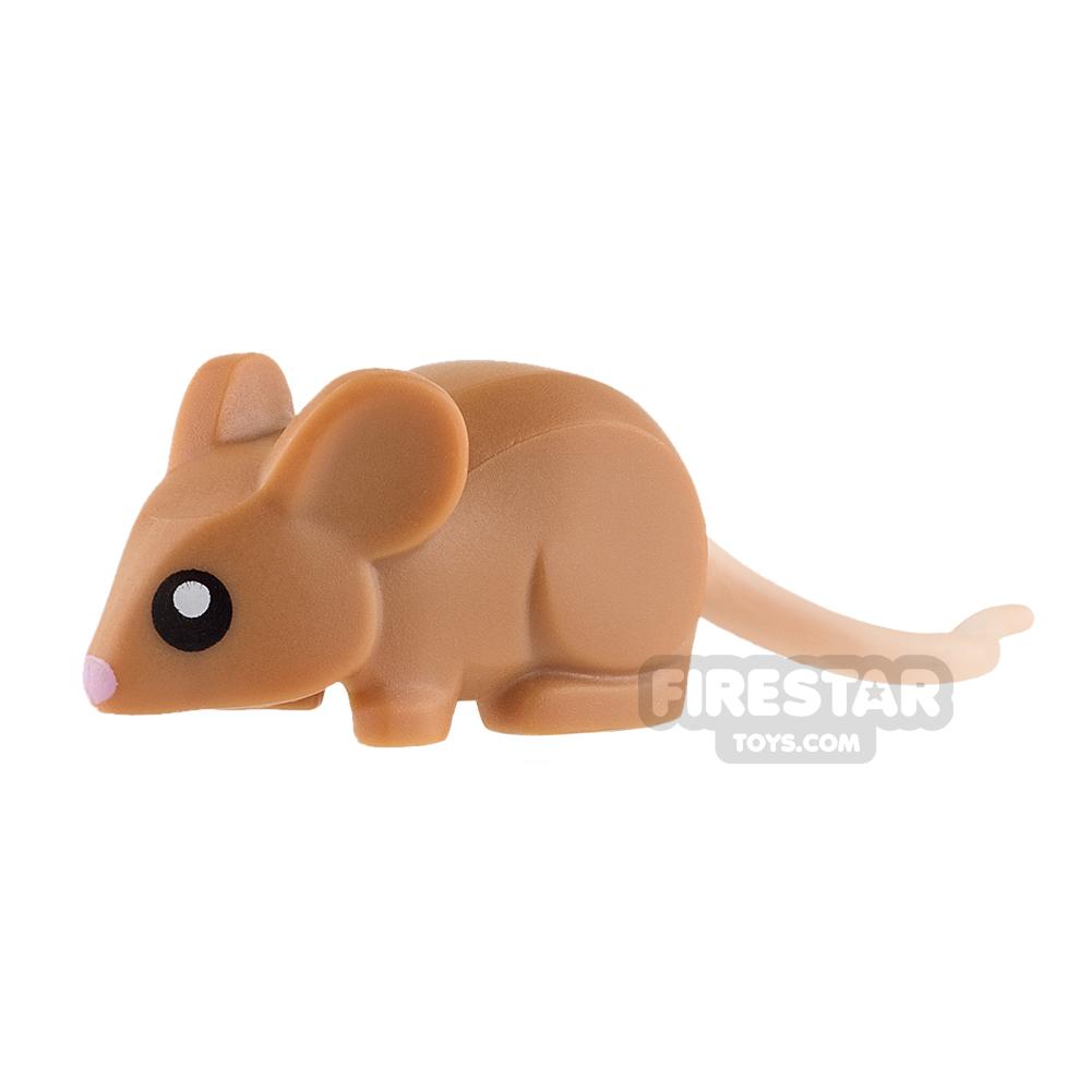 LEGO Animals Mini Figure - Mouse - Medium Dark Flesh