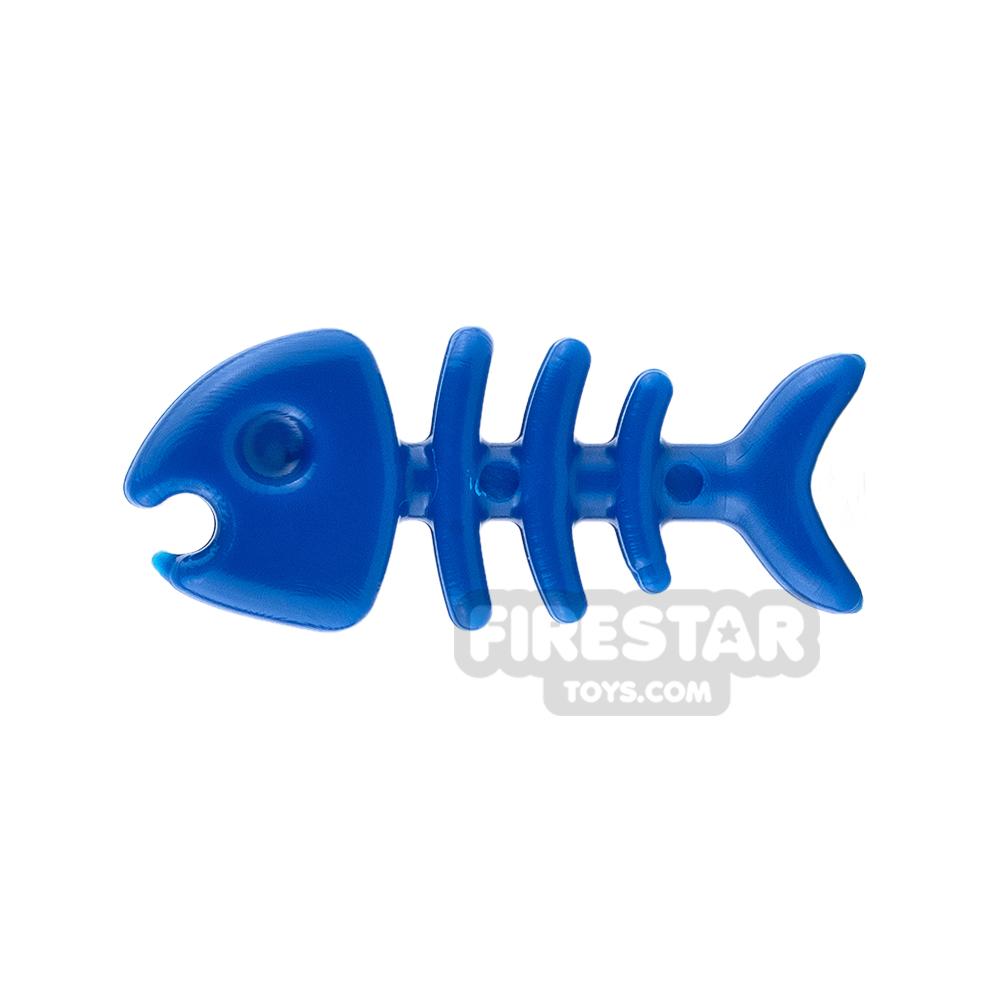 SI-DAN Animals Mini Figure - Fish Bone - Blue