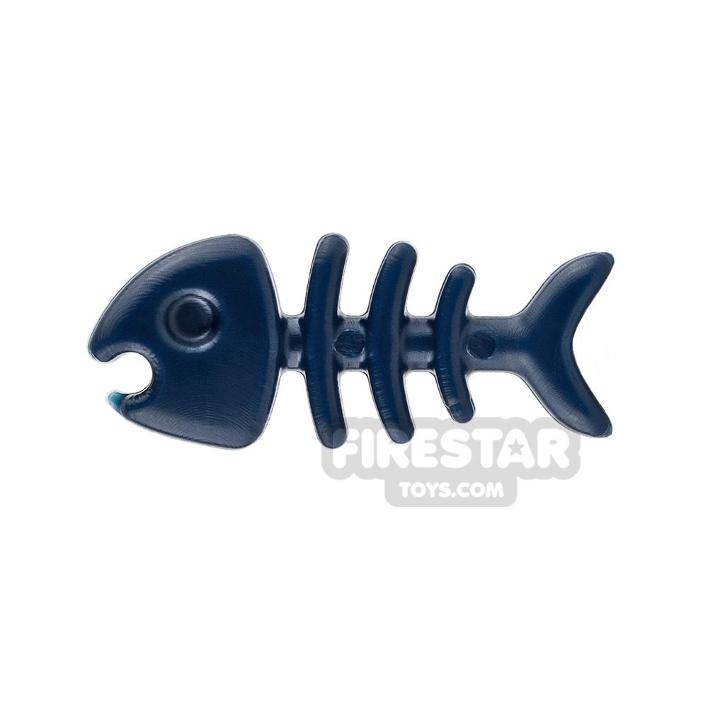 SI-DAN Animals Mini Figure - Fish Bone - Dark Blue