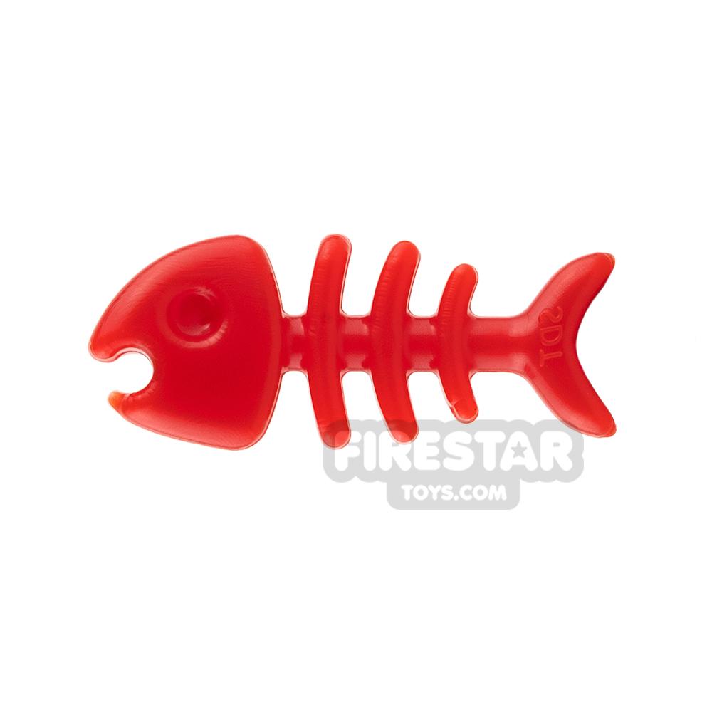 SI-DAN Animals Mini Figure - Fish Bone - Red