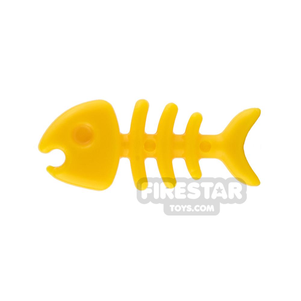 SI-DAN Animals Mini Figure - Fish Bone - Yellow