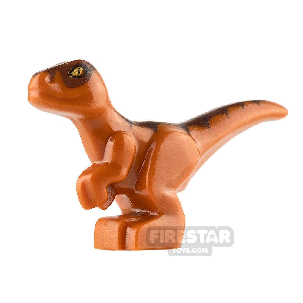 LEGO Animals Mini Figure - Baby Raptor Dinosaur - Dark Orange