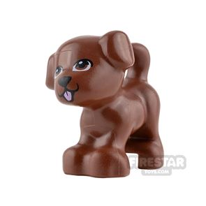LEGO Animals Mini Figure - Puppy - Reddish Brown with Pink Tongue