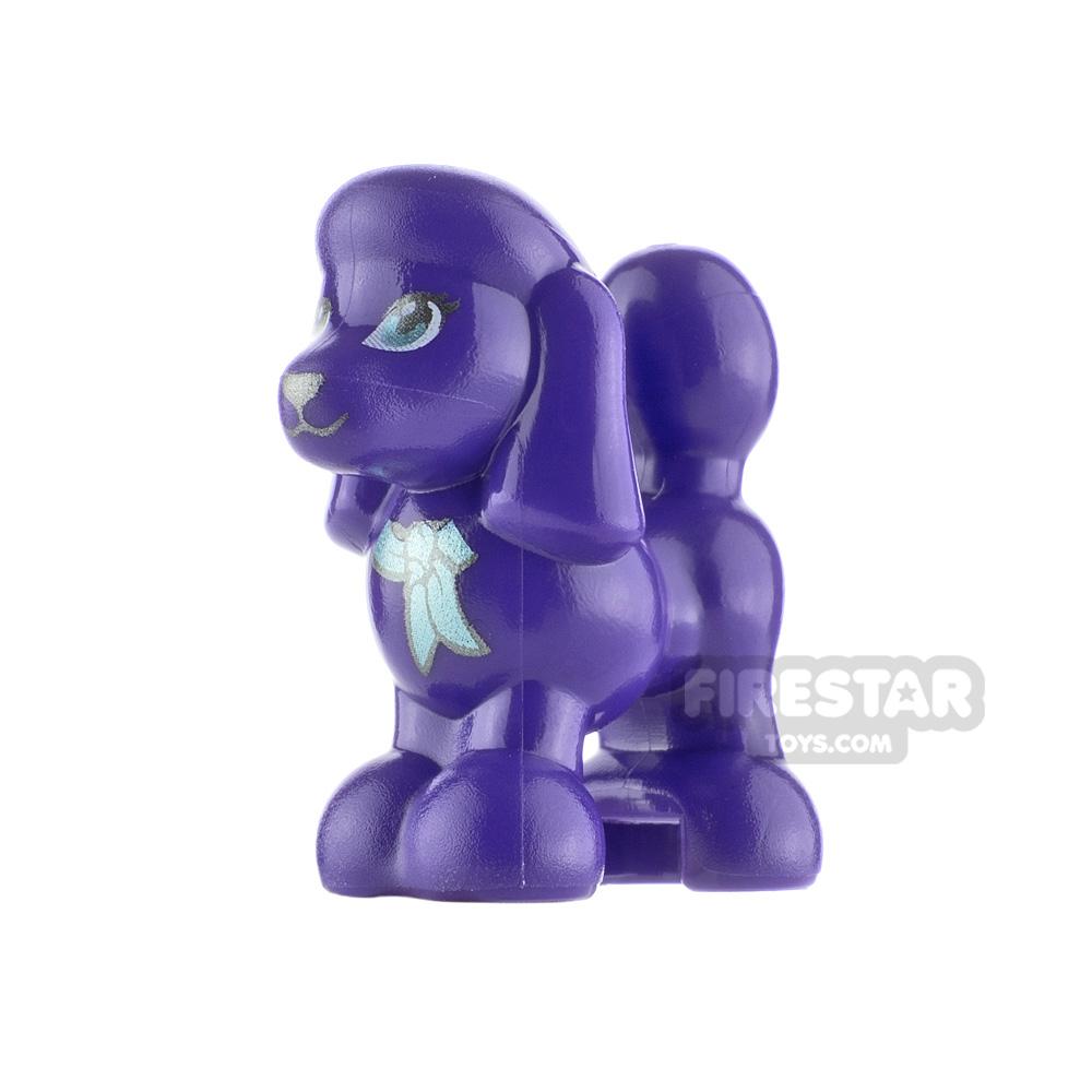 LEGO Animals Minifigure Poodle Metallic Blue Collar