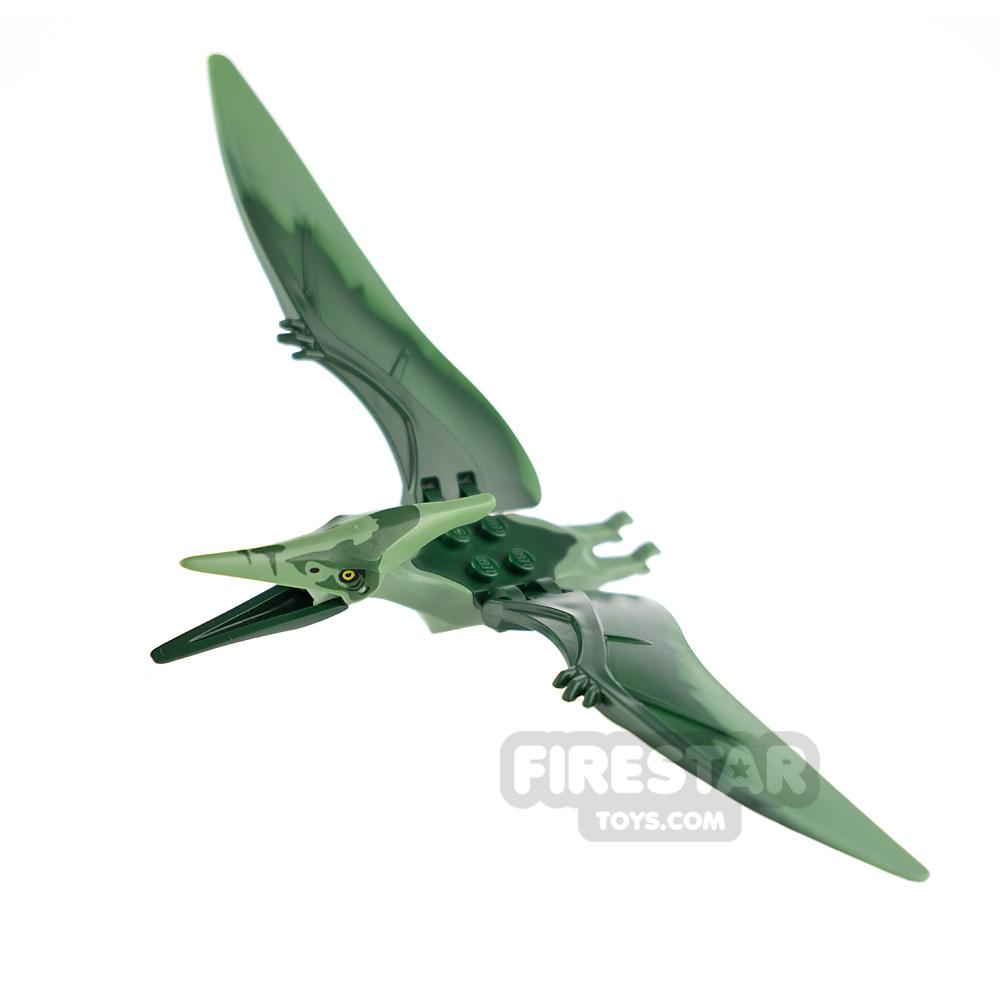 LEGO Animals Minifigure Pteranodon Dark Green Back