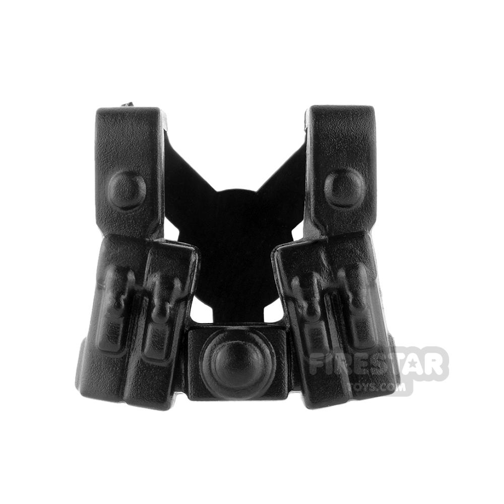 BrickWarriors - German Gunner Suspenders - Black