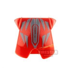 LEGO - Red Armour With Silver Pattern