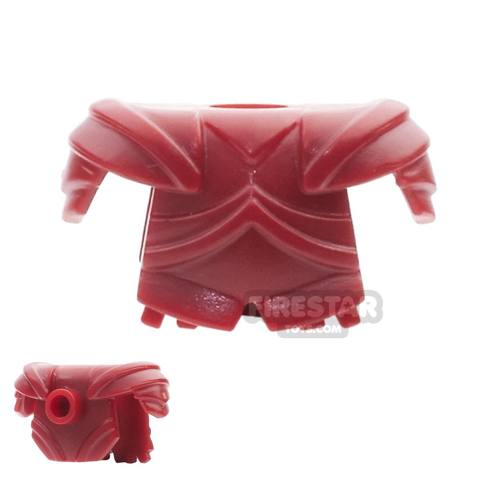 BrickWarriors - Plate Armour - Dark Red