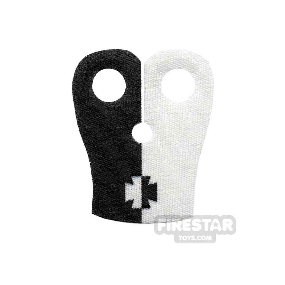 Custom Design Cape - Pauldron - Crusader - Black and White