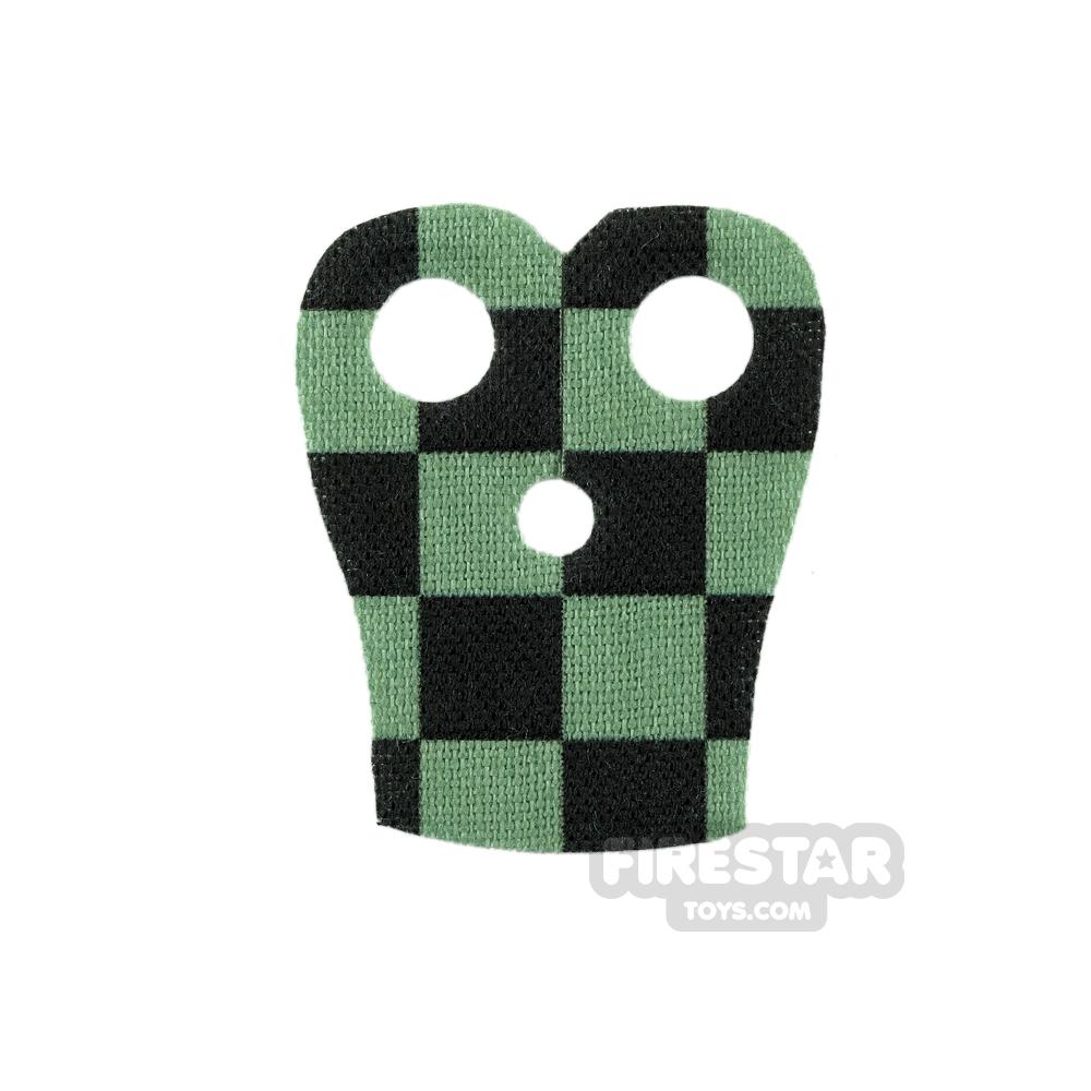 Custom Design Cape - Pauldron - Checkered - Black and Sand Green