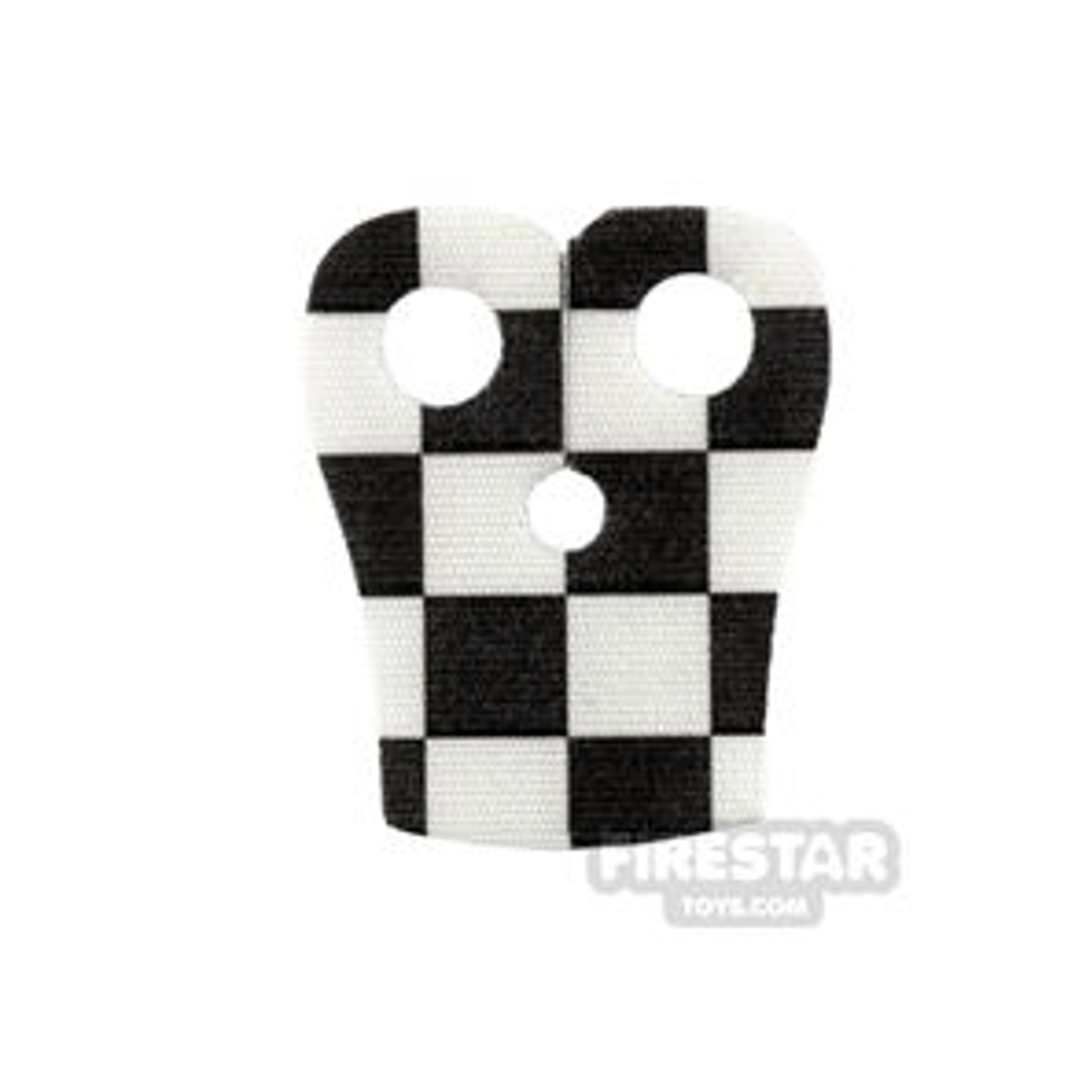 Custom Design Cape - Pauldron - Checkered - Black and White