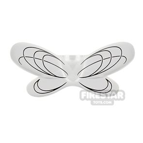 LEGO Fairy Wings with Black Oval Lines