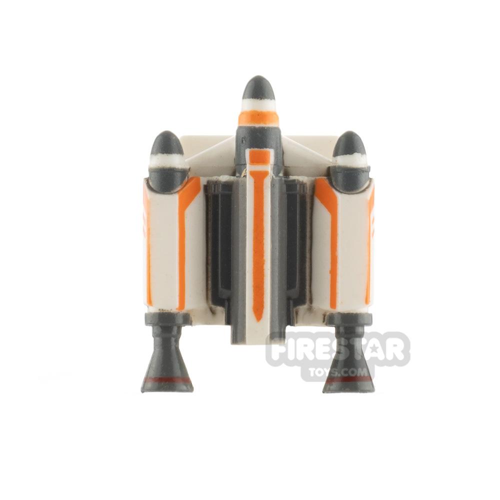Clone Army Customs Trooper Jet Pack Orange Trooper