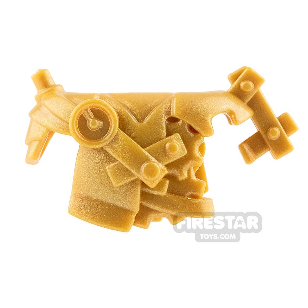 BrickWarriors - Steampunk Armour - Pearl Gold