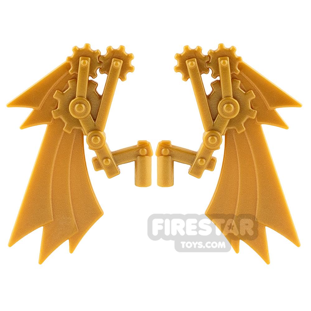 BrickWarriors - Steampunk Wings - Pearl Gold