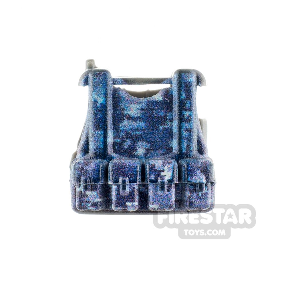 SI-DAN - B12 Tactical Vest - Digital Camo - Blue