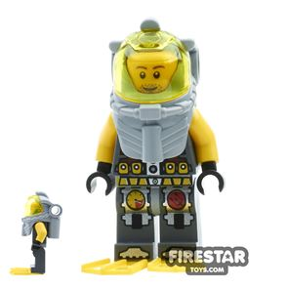 LEGO Atlantis Mini Figure - Diver Lance Spears - Yellow Flippers