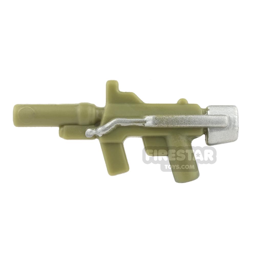 BrickForge - Sub Orbital Machine Gun - Olive Green and Silver