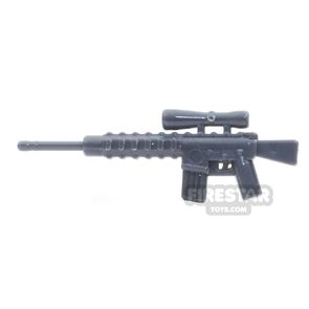 CombatBrick - M110 Semi-Automatic Sniper Rifle - Dark Blueish Gray