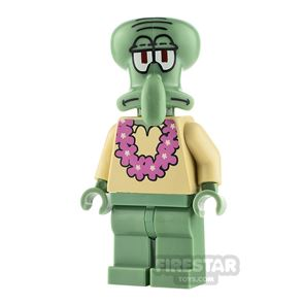 LEGO Spongebob Minifigure Squidward Pink Lei