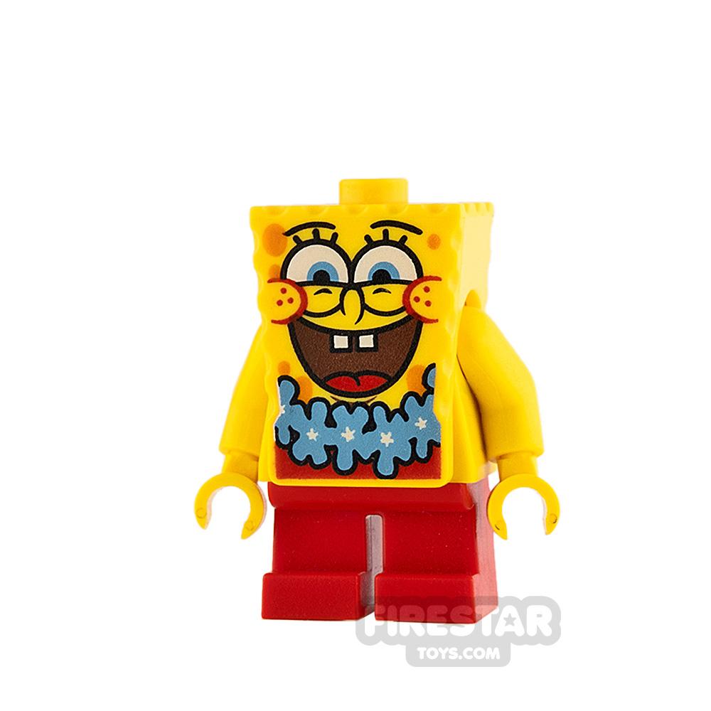 LEGO Spongebob Minifigure Spongebob Blue Lei