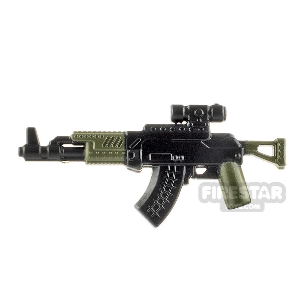 LeYiLeBrick Assault Rifle 1 Black / Green