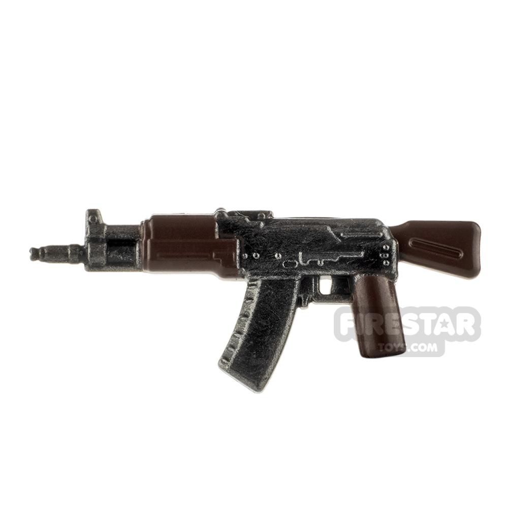 LeYiLeBrick Assault Rifle 2 Steel / Brown