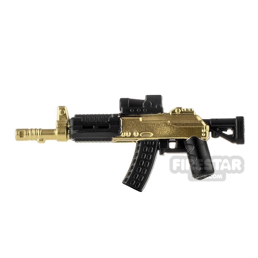 LeYiLeBrick Assault Rifle 3 Black / Gold