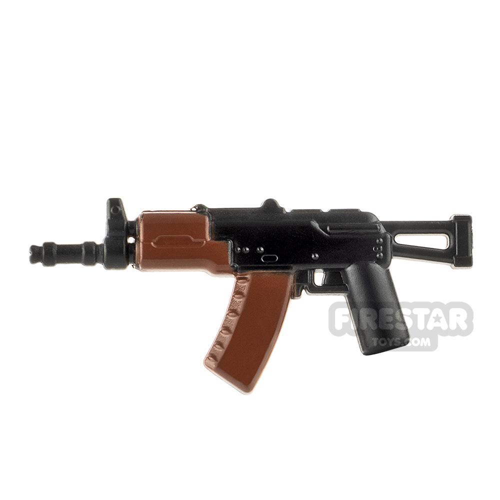 LeYiLeBrick Assault Rifle 4 Black / Brown V1