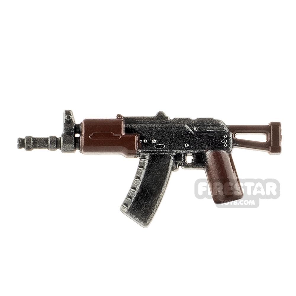 LeYiLeBrick Assault Rifle 4 Steel / Brown
