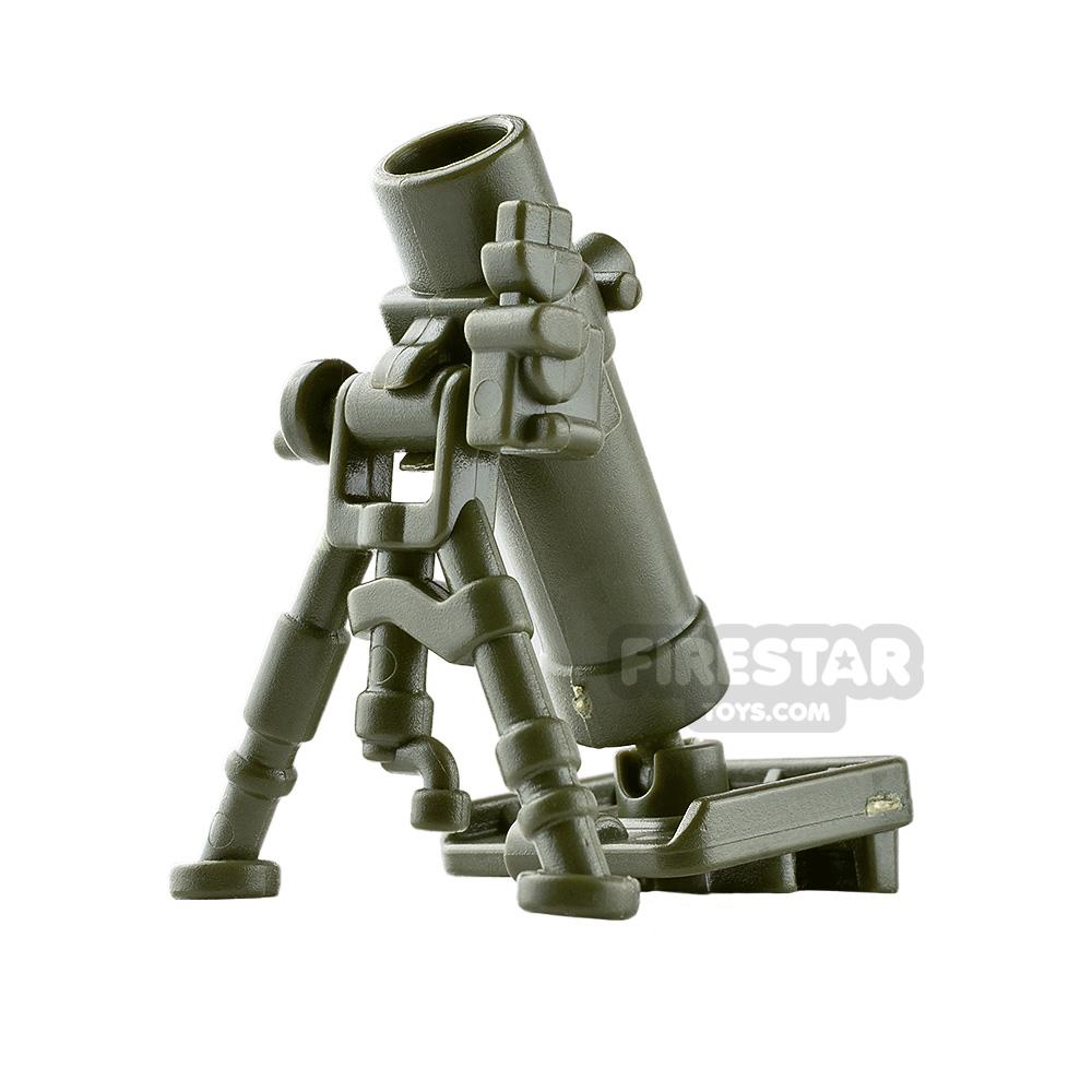 BrickWarriors - Mortar Tube - Army Green