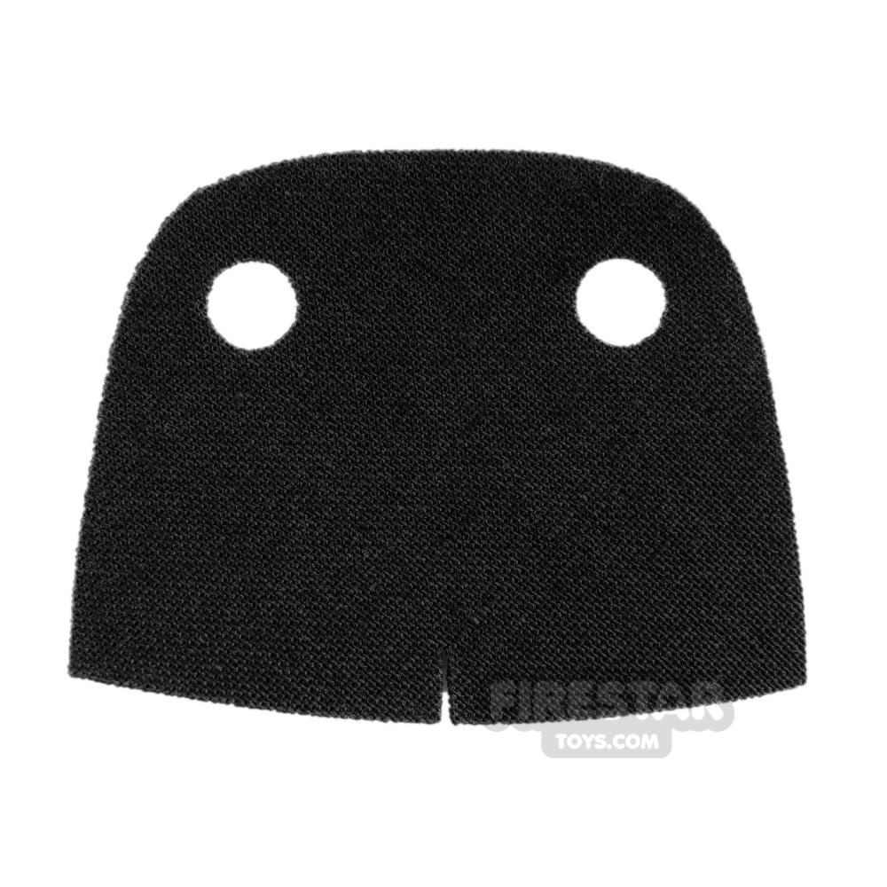 Custom Design Cape - Trenchcoat - Round Collar - Black
