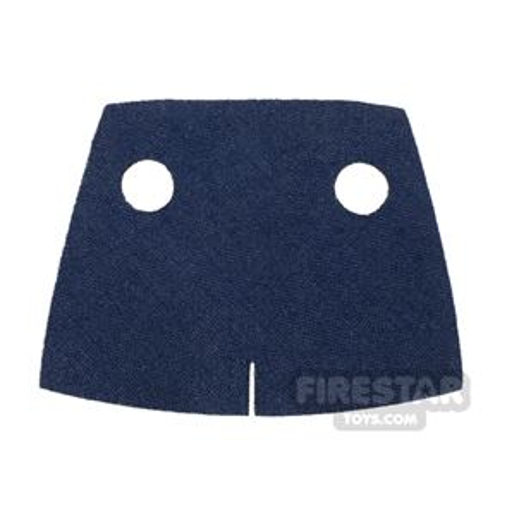 Custom Design Cape - Trenchcoat - Square Collar - Dark Blue