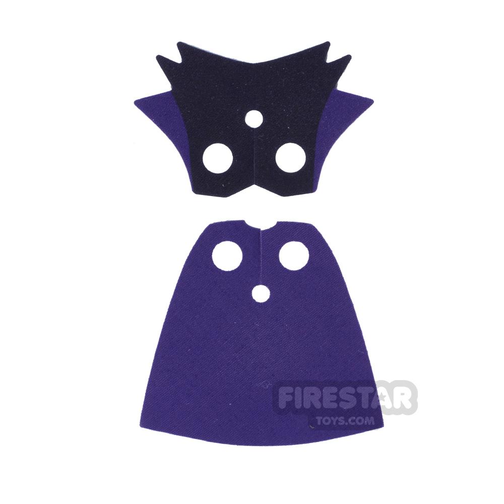 LEGO Cape - Maleficent Cloak- Purple And Black