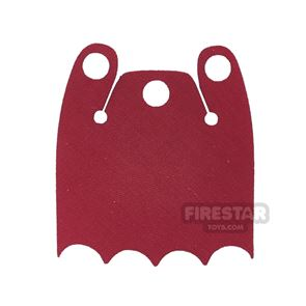 Custom Design Cape - Batman Cloak - Bite Overshoulder - Red