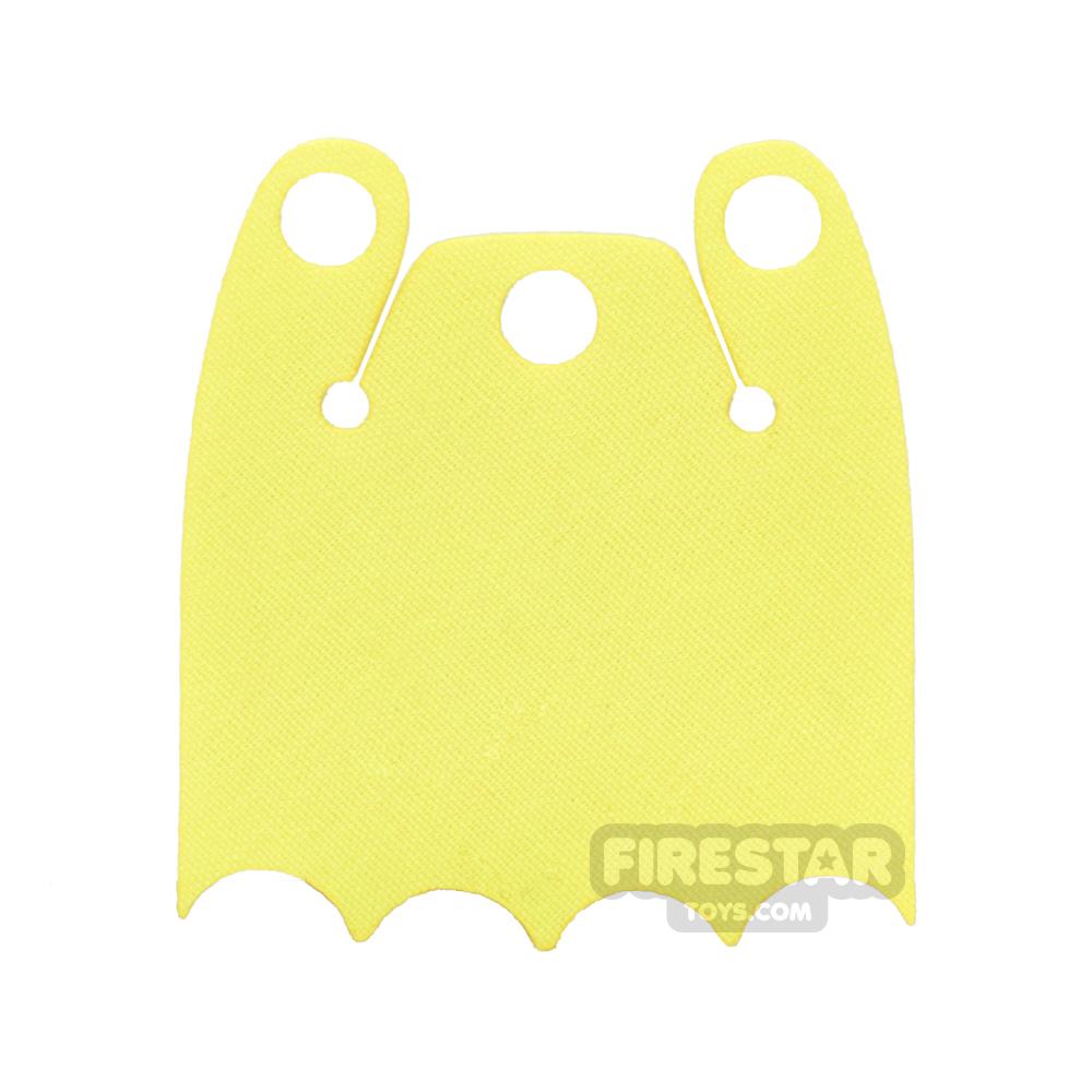 Custom Design Cape - Batman Cloak - Bite Overshoulder - Yellow