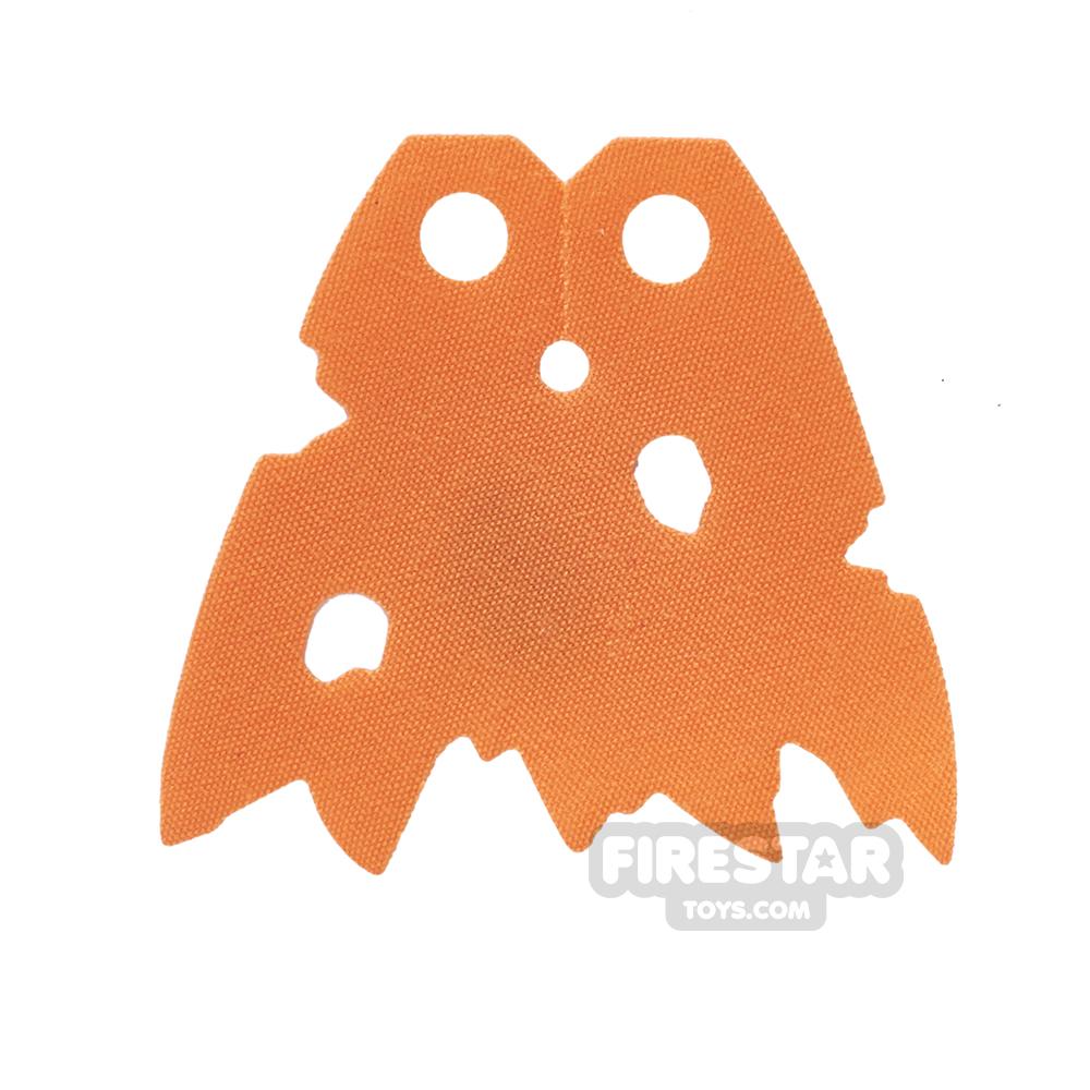 LEGO Cape - Tattered with Holes - Orange